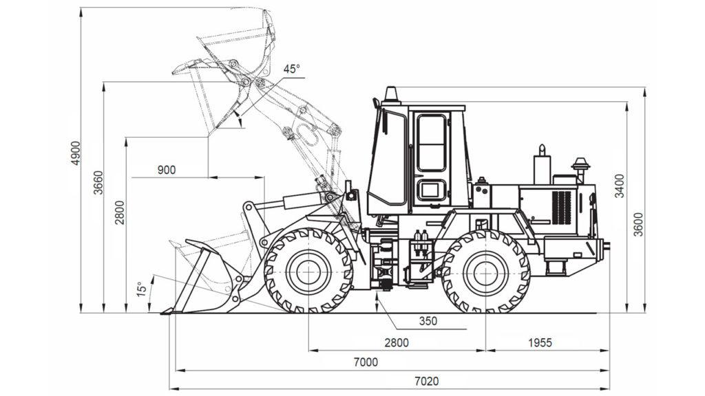Технологическая схема Амкодор 332В
