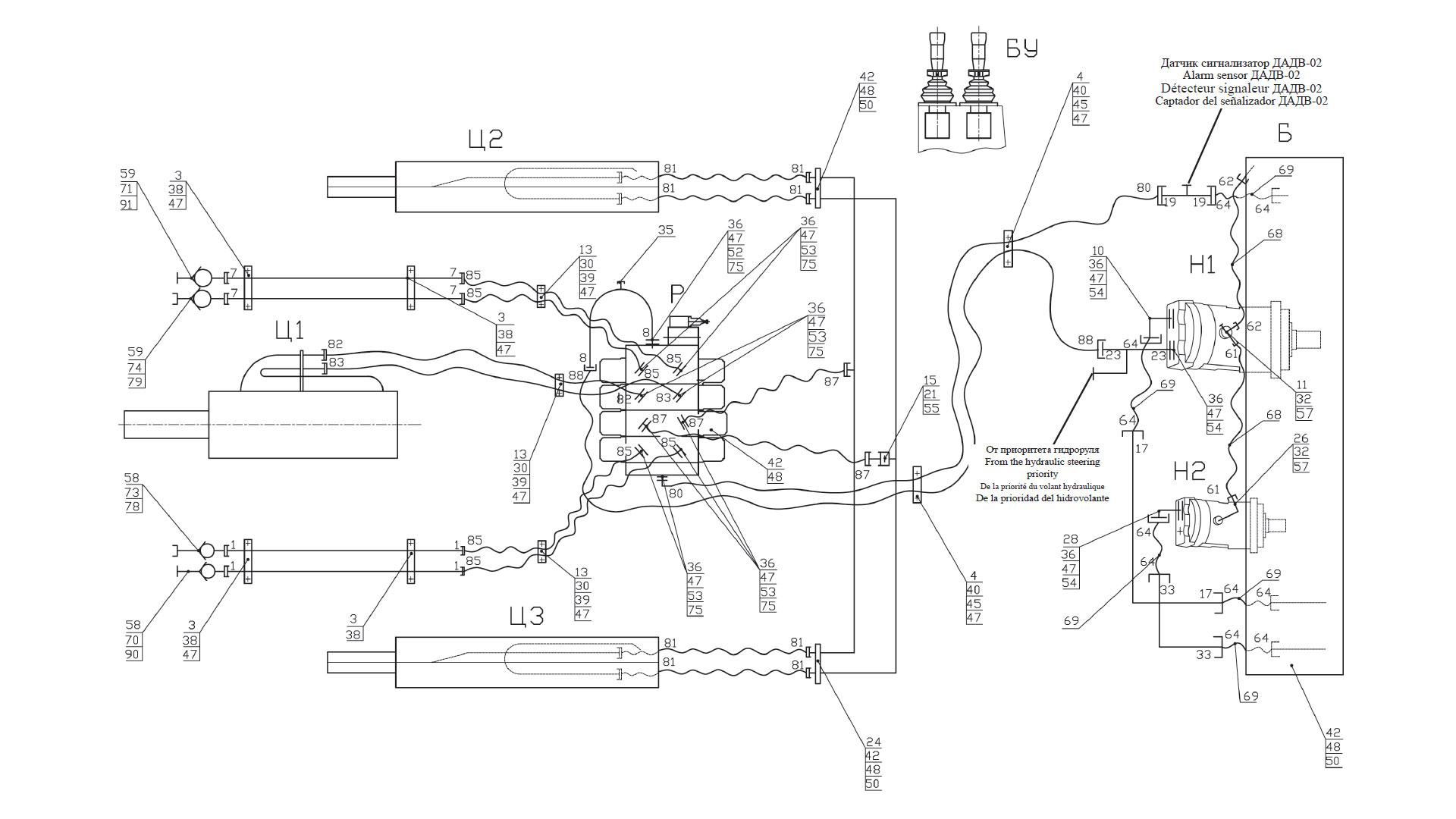 Гидросистема рабочего оборудования 332C.46.00 000-02