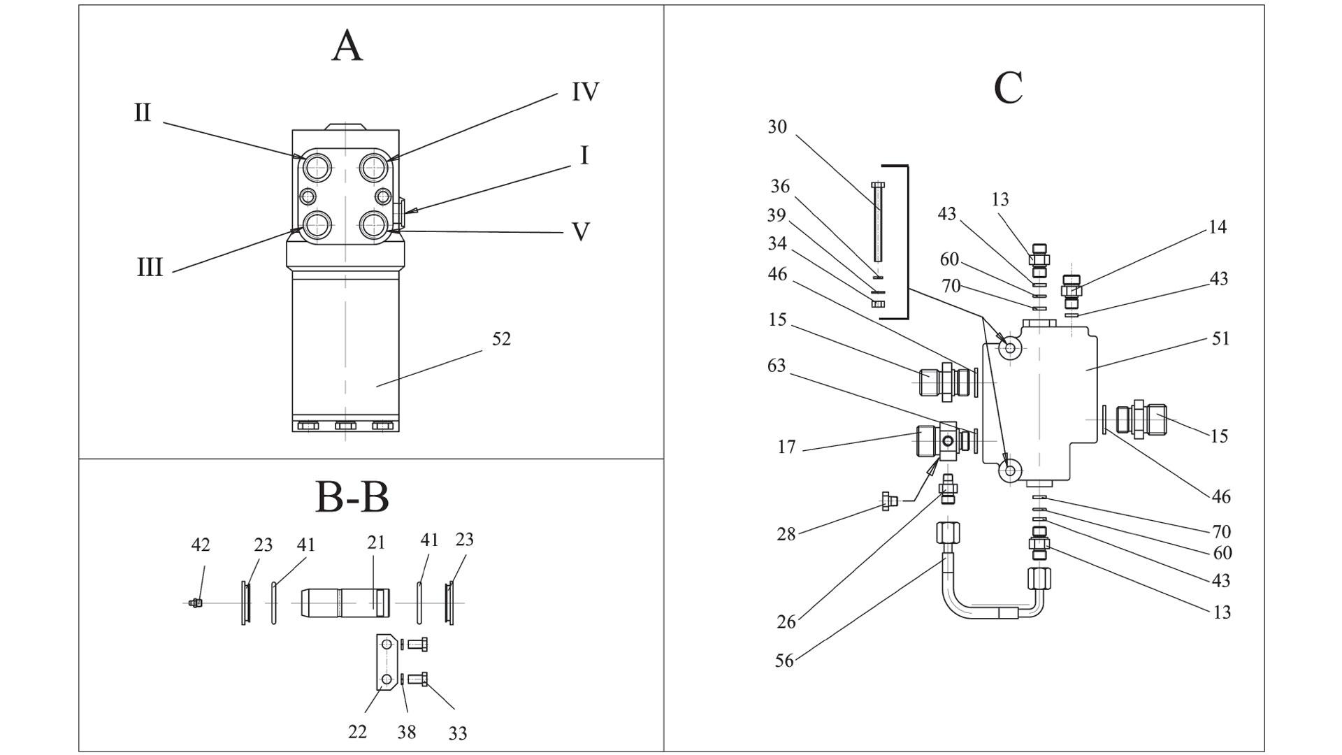 Гидросистема рулевого управления ТО-28А.78.00.000-02