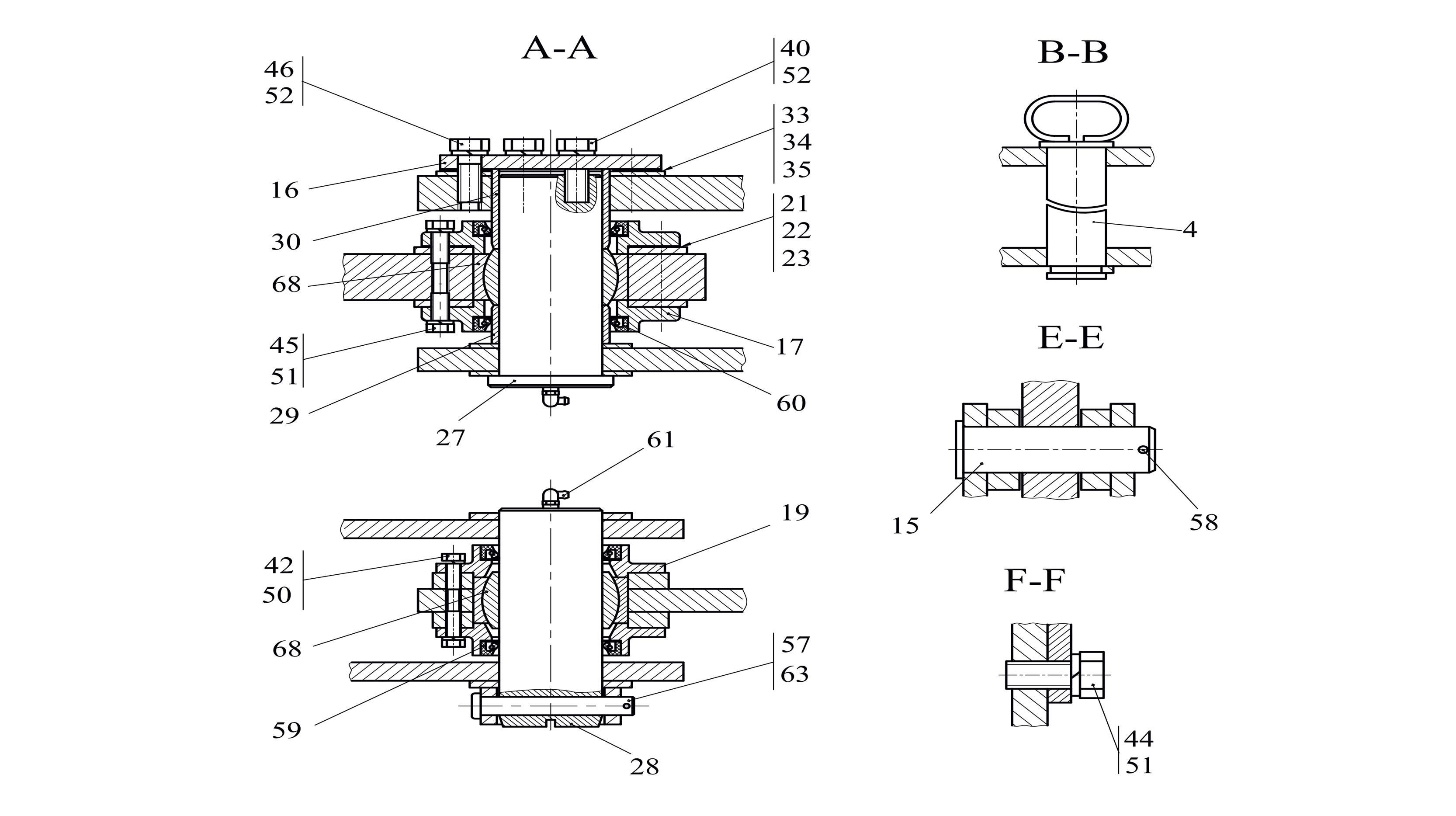 Шарнирное соединение передней и задней рамы ТО-18Б3.01.00.000 / 332С4.12.00.000-02