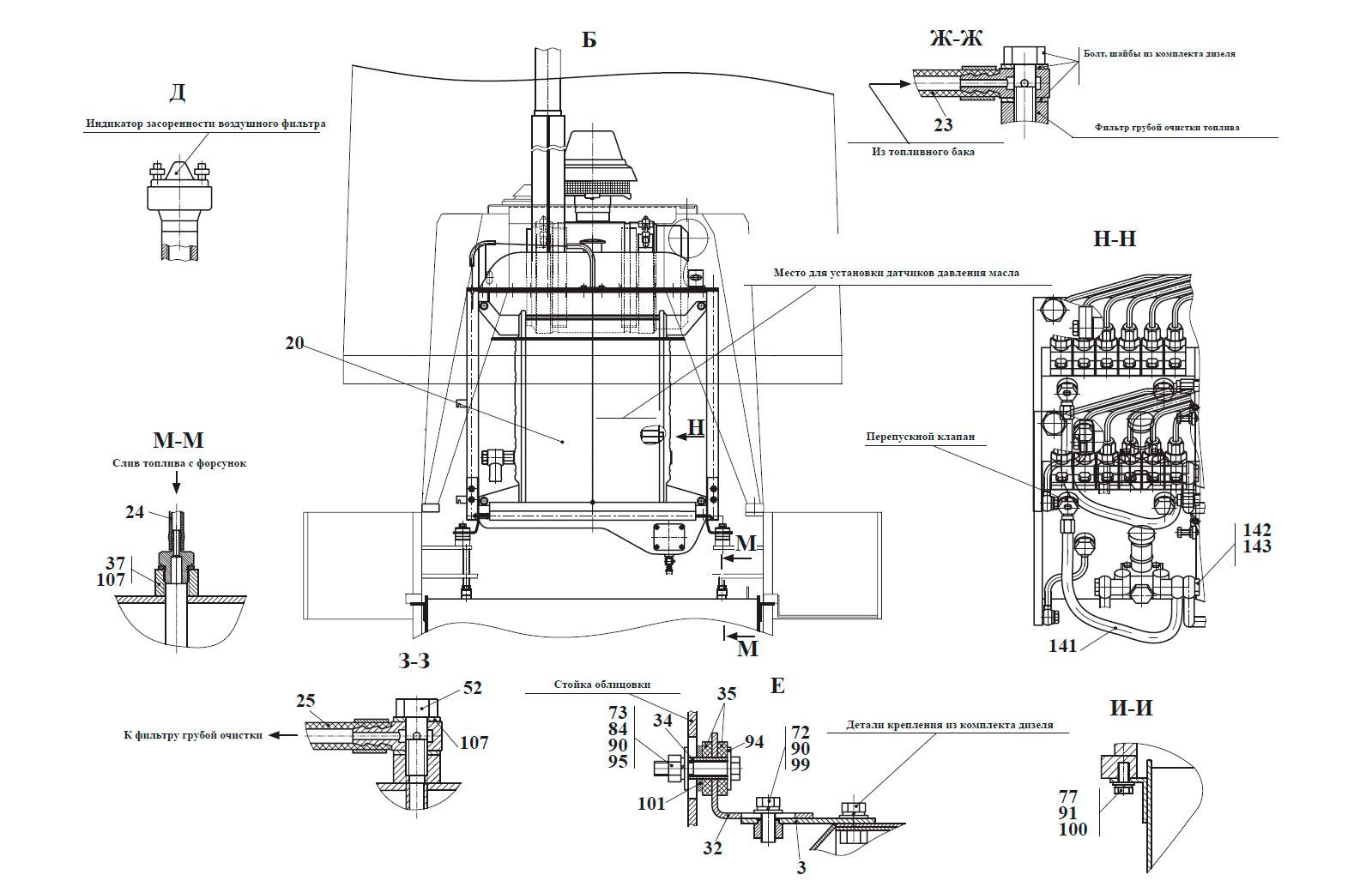 Силовая установка 332С4.02.00.000-Б