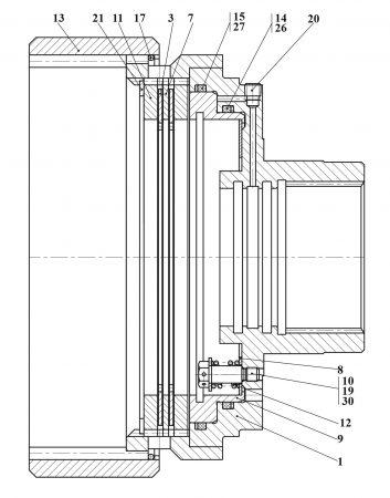 Тормоз колесный У2210.20Н-2-03.100-02-Б
